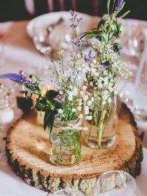 Bocaux utilisés comme vases