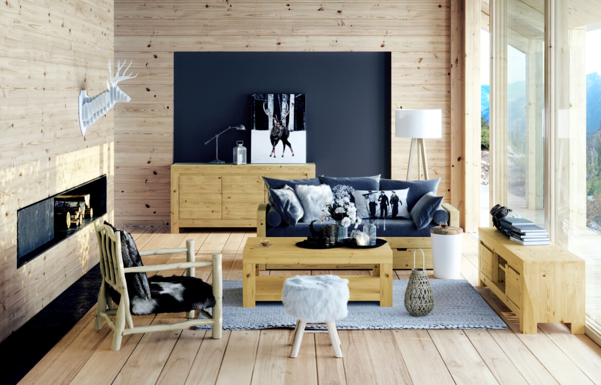 les 5 commandements d 39 une d co chalet contemporaine. Black Bedroom Furniture Sets. Home Design Ideas