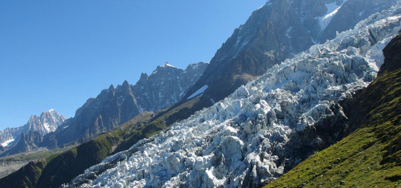 Le glacier des Bossons, à Chamonix Mont-Blanc