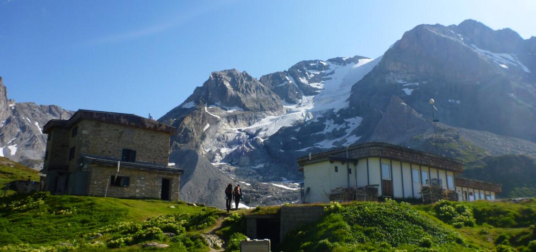 Glacier de la Grande Casse dans le massif de la Vanoise dans les Alpes