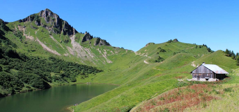 Lac de Lessy, en Haute Savoie