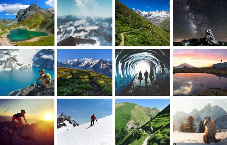 Comptes instagram montagne et outdoor