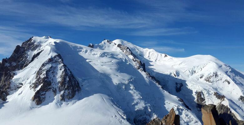 L'ascension du mont blanc par des alpinistes