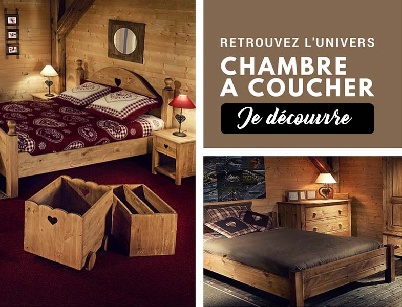 Chambre à coucher Grenier Alpin