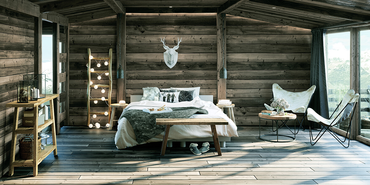 Chambre chalet moderne