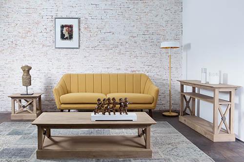 Salon canapé jaune