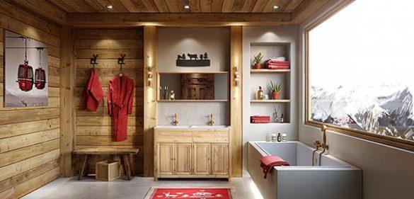 Salle de bain esprit SPA montagne