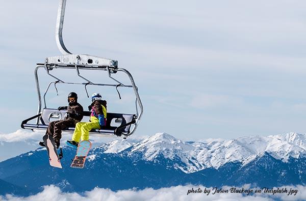 les sports d'hiver en montagne