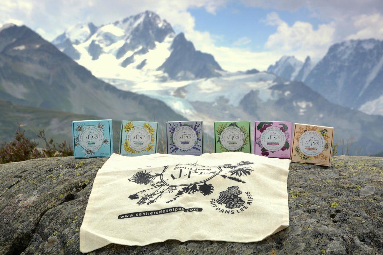 Savons aux extraits de plantes des alpes