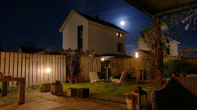 éclairage extérieure pour jardin