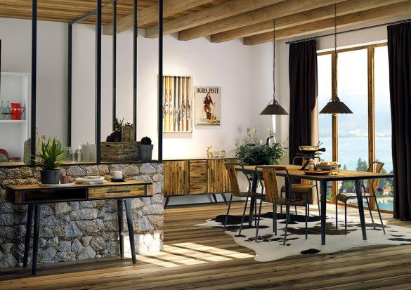Meubles de style alpin entre tradition et modernisme