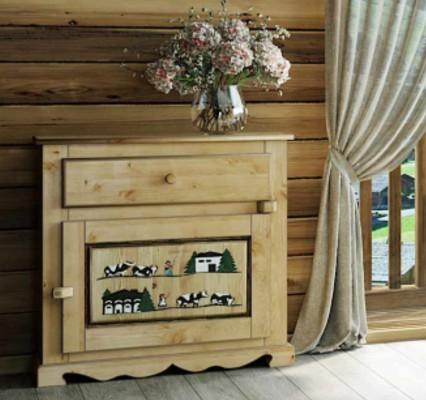 meuble peint montagnard avec poya