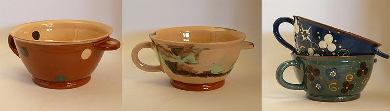 les motifs naifs de la poterie savoyarde artisanale