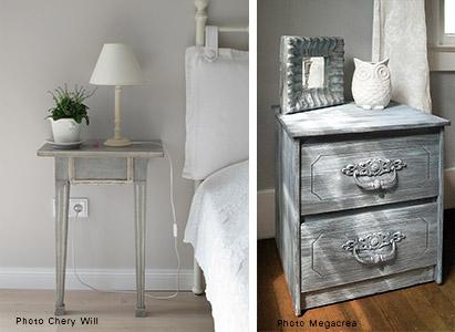 Relooking de meuble peinture style shabby