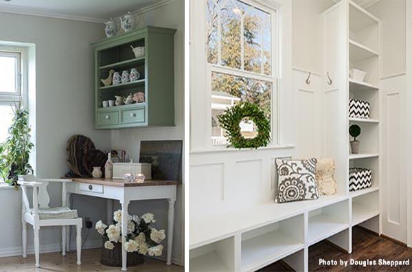 amenagement pour petits espaces -meuble haut et meuble d'entrée
