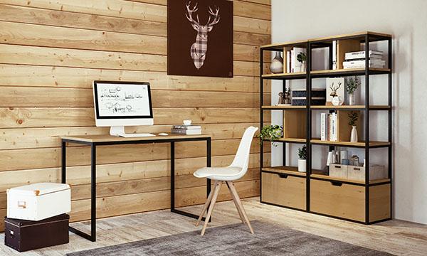 bureau dans un chalet moderne