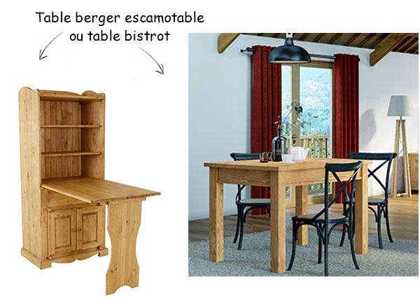 table de berger escamotable pour les petits espaces