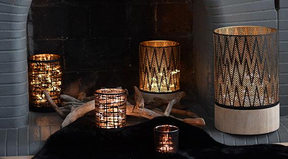 Bougies ambiance coin du feu hiver