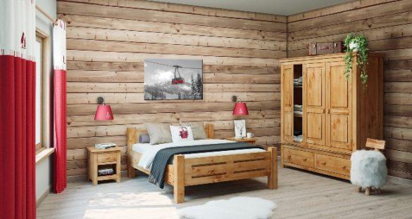 armoire rustique de style montagnard ou campagnard pour rangement du linge